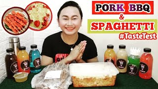 Pork BBQ & Spaghetti Taste Test || NORIEL LIQUE