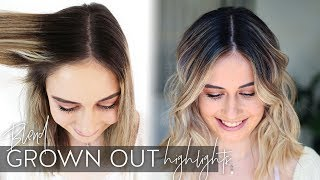 How to blend grown out highlights into balayage using three different hair color techniques!