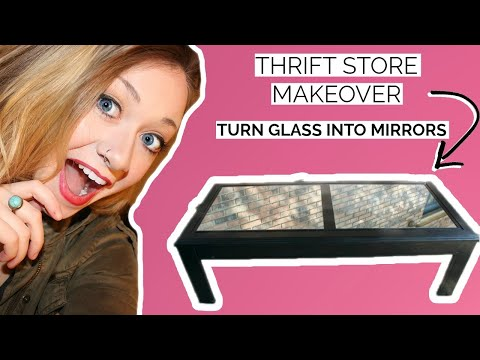 diy-refurbished-coffee-table-|-thrift-store-makeover-|-turn-glass-into-mirrors-|-laci-jane