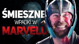 Śmieszne wypadki i zakulisowe sceny w filmach Marvela!