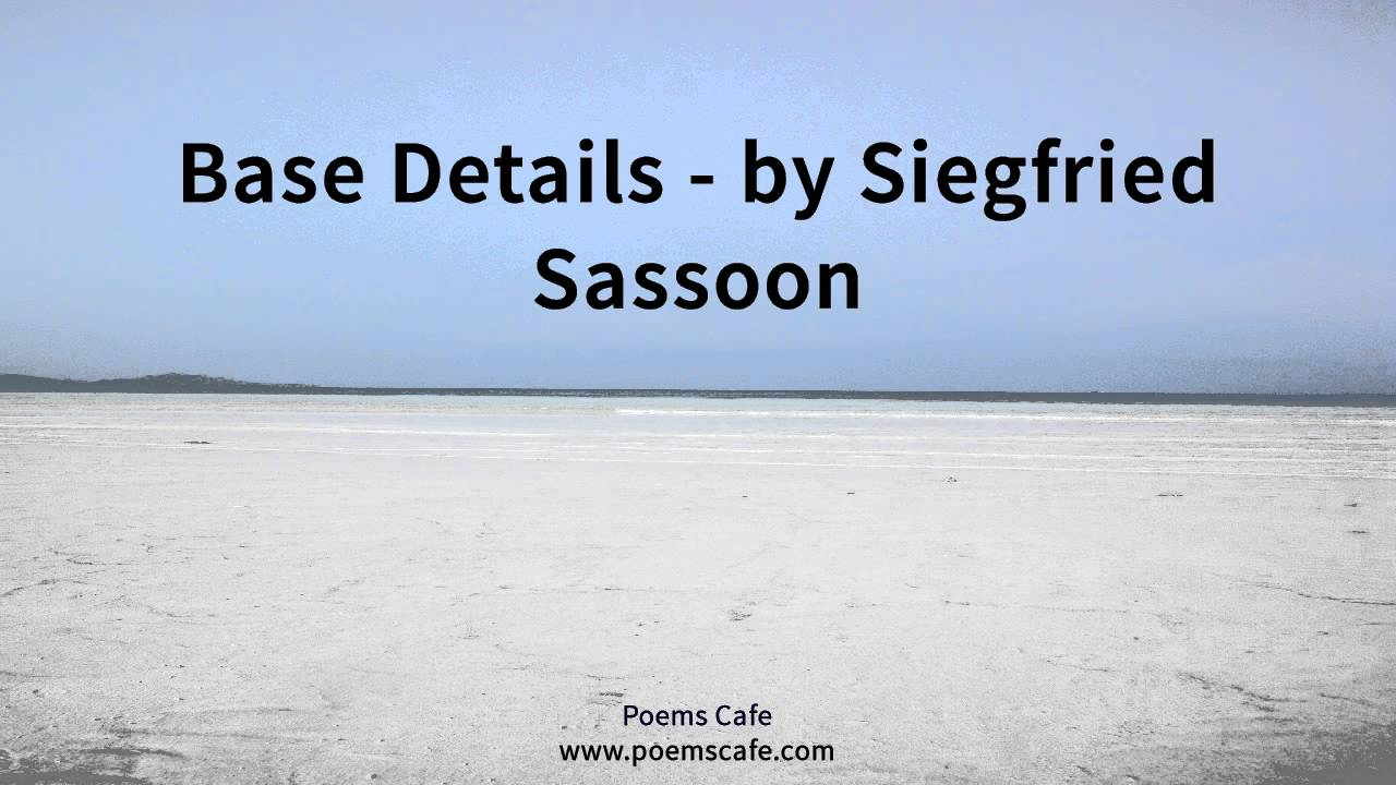 attack by siegfried sassoon essay Analyzing war poetry: attack by siegfried sassoon poetry is very much like lyrics from a song it is another medium to express an.