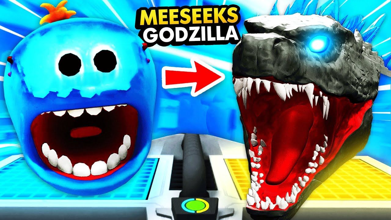 Turning MEESEEKS Into GIANT GODZILLA (Rick and Morty VR Funny Gameplay)