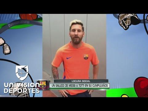 """Messi para Totti: """"Siempre te admiré y espero verte jugar un par de años más"""""""