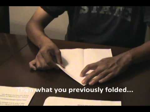 How to Make a Paper Airplane (Navajo Instructions)