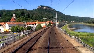"Cabview Führerstandsmitfahrt 371 003-5 EC 176 ""Johannes Brahms"" Praha - Dresden"