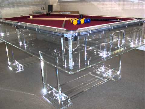The Best Clear Acrylic Perspex Pool Table In The World YouTube - Clear pool table