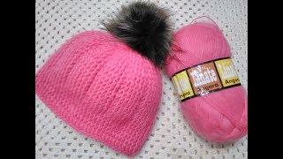 МК. Вяжем шапку крючком на зиму.