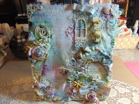 Vintage/Shabby Chic Canvas Tutorial....Cotton Candy Garden