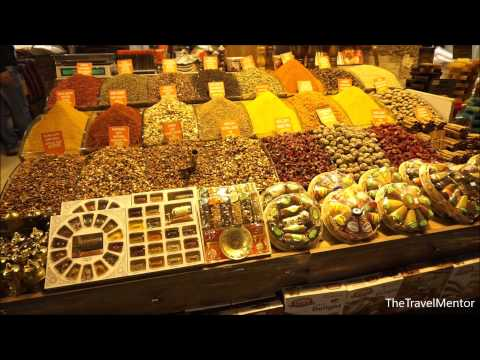 Walking through the amazing Spice Bazaar (Egyptian Bazaar), a must see sight in Istanbul, Turkey