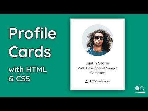 How To Create User Profile Cards Using HTML & CSS - Web Design Tutorial