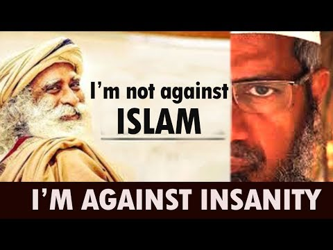SADHGURU DESTROYS Zakir Naik's GOD branding