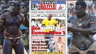 "Khadim Ndiaye""Reug Reug va tabasser Gris 2 avant de le..."" Revue de presse Lutte TV du 23 mai 2019"