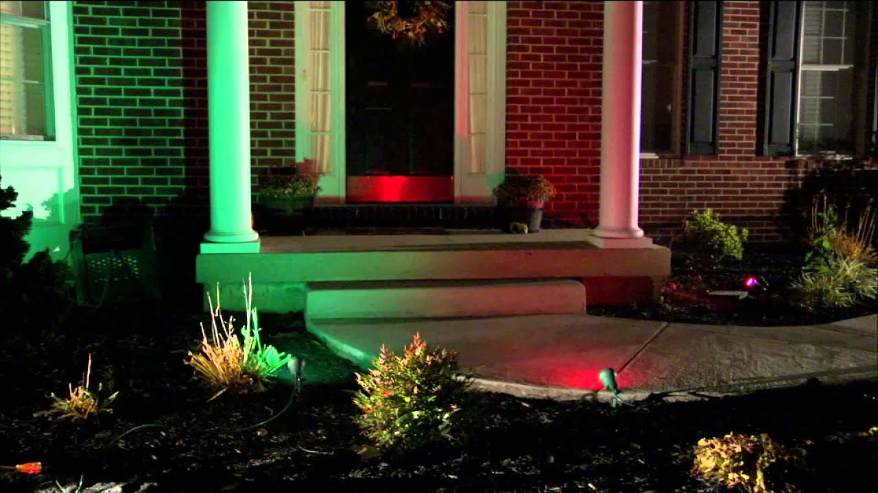 Led Stake Lights With 3 Colored Lenses