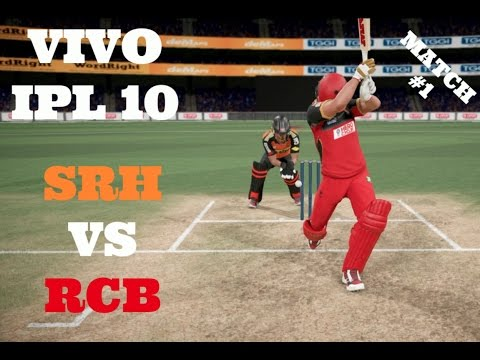 VIVO IPL 10 : SRH VS RCB : MATCH 1