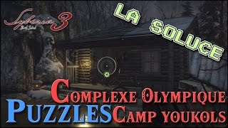 PUZZLES - COMPLEXE OLYMPIQUES - CAMP YOUKOLS - SYBERIA 3