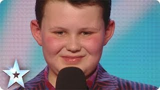 David's mini-me singer Ellis Chick swings through his audition | Britain's Got Talent 2014
