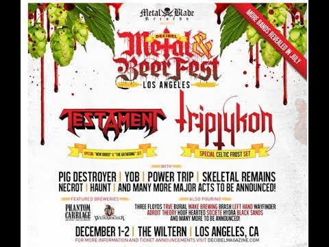 Decibel Metal & Beer Fest Testament/Triptykon/YOB/Power Trip and more..!