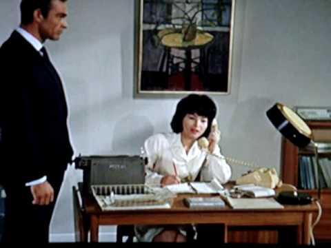 "Nice Secretary in White 1 / 2 "" Dr No "" James Bond 1962"