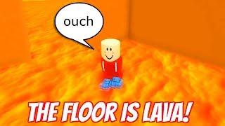 the FLOOR is LAVA in ROBLOX RadioJH Games