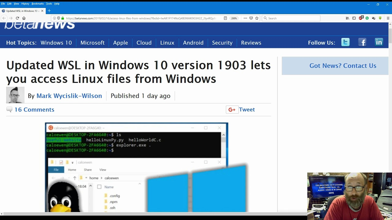 News - WSL update for Win10 1903 makes accessing Linux files easier