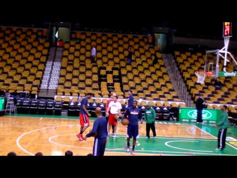 John Wall Pre-game shooting with Sam Cassell 4/7/13