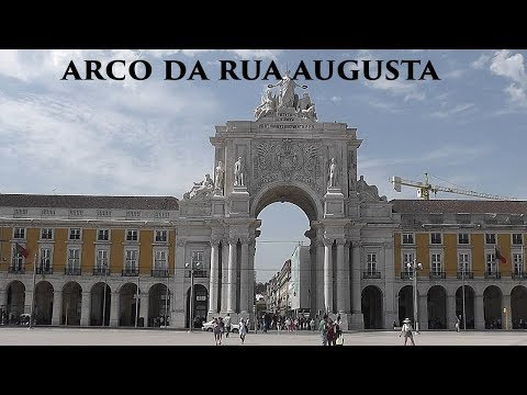 LISBOA: Arch of Rua Augusta - viewpoint (Portugal) HD