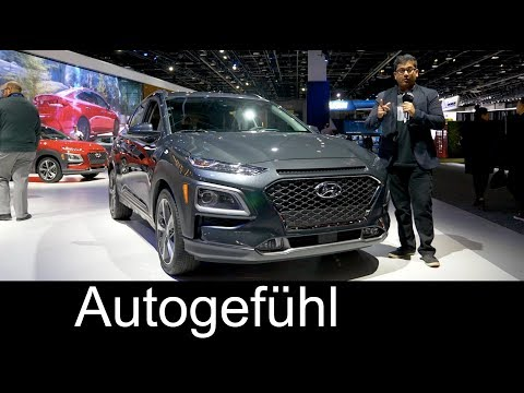 Hyundai Kona Kauai new SUV PREVIEW NAIAS 2018 Autogefhl