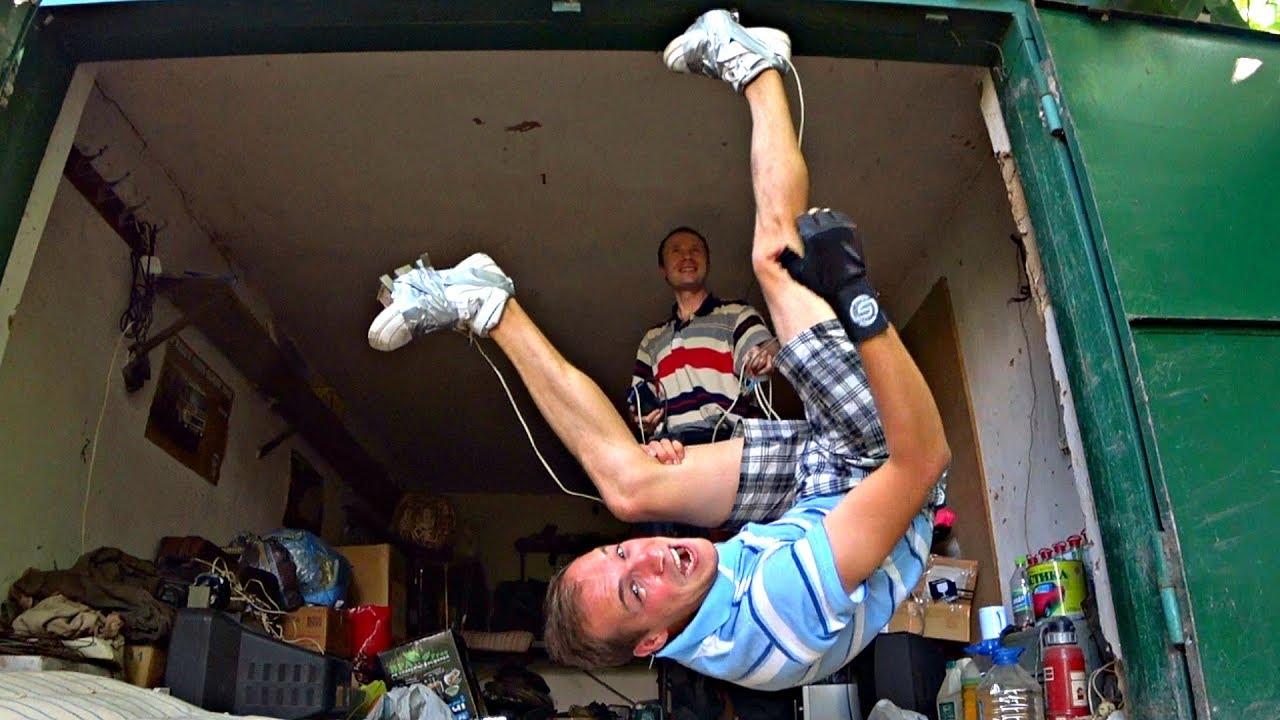 как сделать фото вверх ногами на потолке