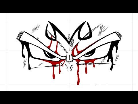 Comment dessiner les yeux de Majin VEGETA DBZ - YouTube
