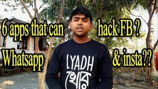 6 Apps That Can Hack Your Facebook, Whatsapp, Instagram ?!!