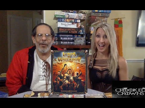 Lords of Water Deep (and expansion) Cosplay board game first play through and review