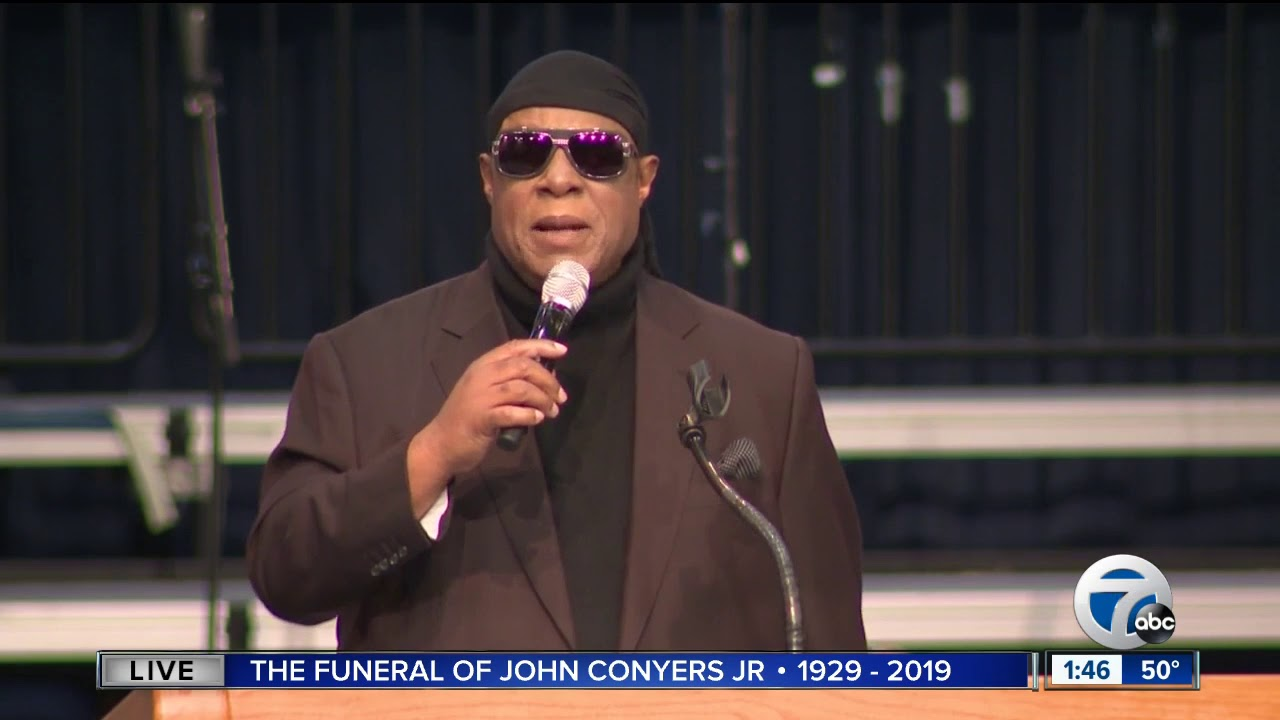 WATCH: Motown legend Stevie Wonder performs at Rep. John Conyers' funeral