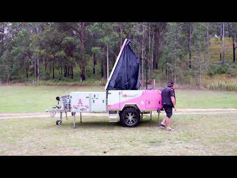 Wild Boar Camper Trailer Setup Tuff Grunt Series 4 Berth