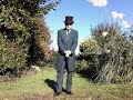 OUTFITS OF A VICTORIAN GENTLEMAN   -  1. OUTSIDE  DAY WEAR , MILD WEATHER.