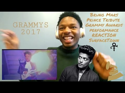 Bruno Mars Prince Tribute (Grammy Awards 2017 Reaction) #SurfaceTown