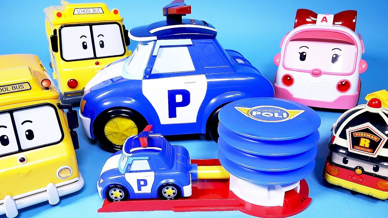 로보카폴리 펌핑카 Robocar poli pump car bank toys