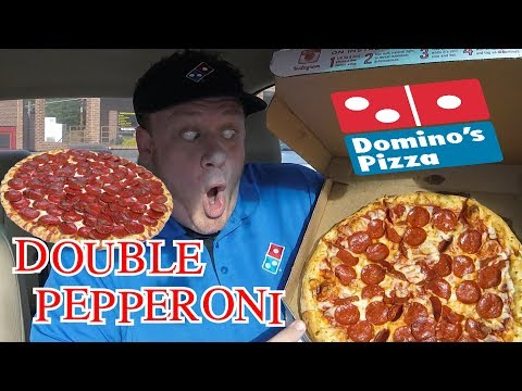 Domino's ☆LARGE DOUBLE PEPPERONI PIZZA☆ Food Review!!!