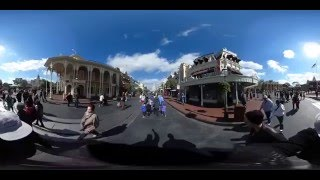 360 Degree Walk Down Main Street USA at Disney