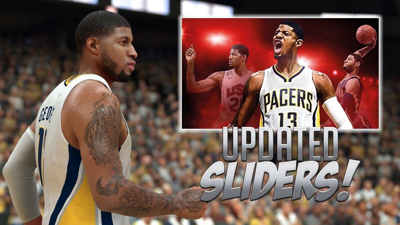 NBA 2K17 Updated Realistic Sliders!