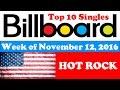 Billboard Hot Rock Charts | November 12, 2016 | ChartExpress