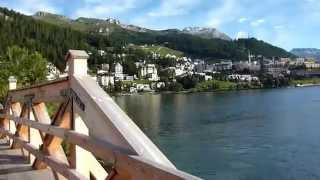 朝の散歩(サンモリッツ湖にて)~Walking in the Lake St. Moritz