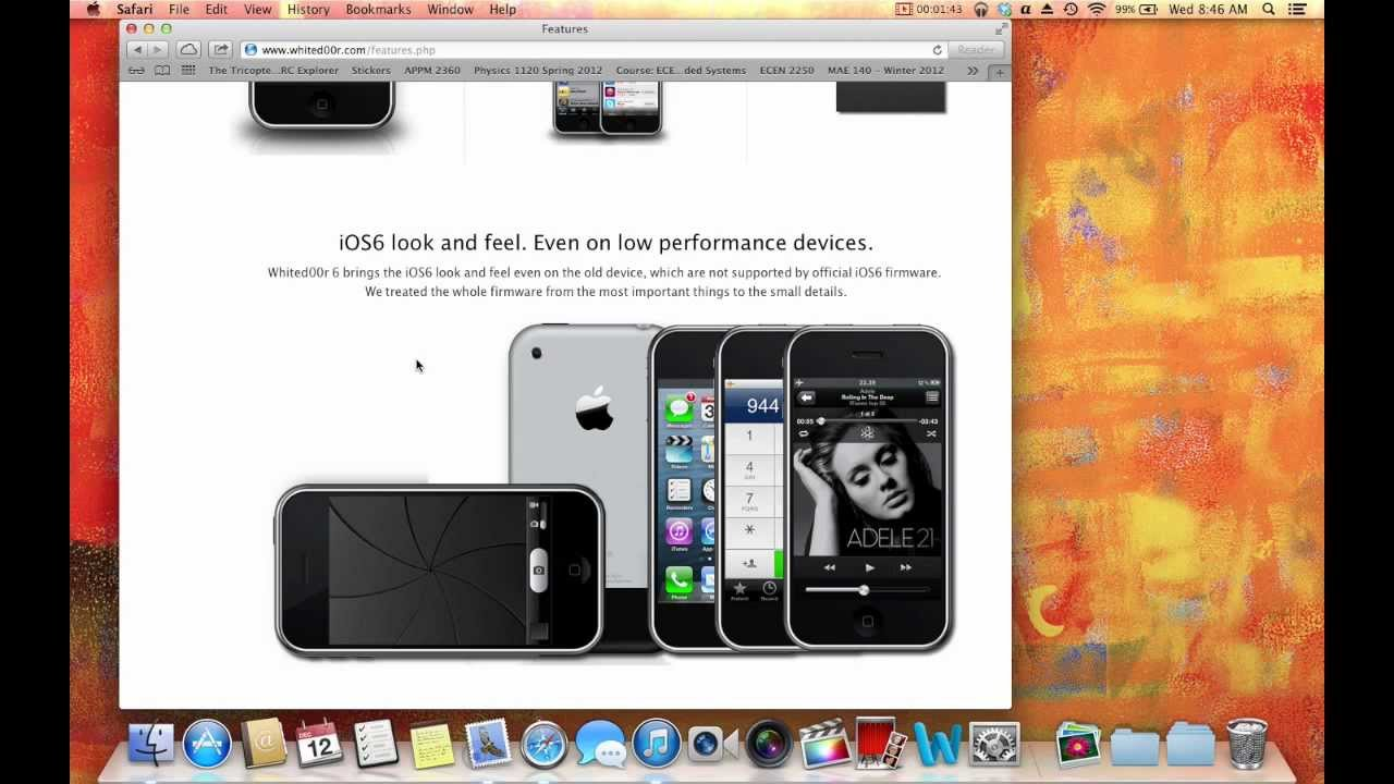 ipod touch 1g update ios 6