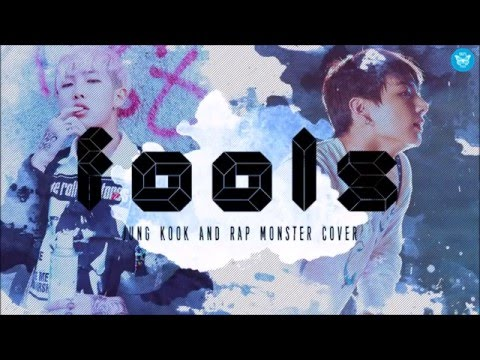 Fools  cover by Rap Monster and Jung Kook (Lyrics)