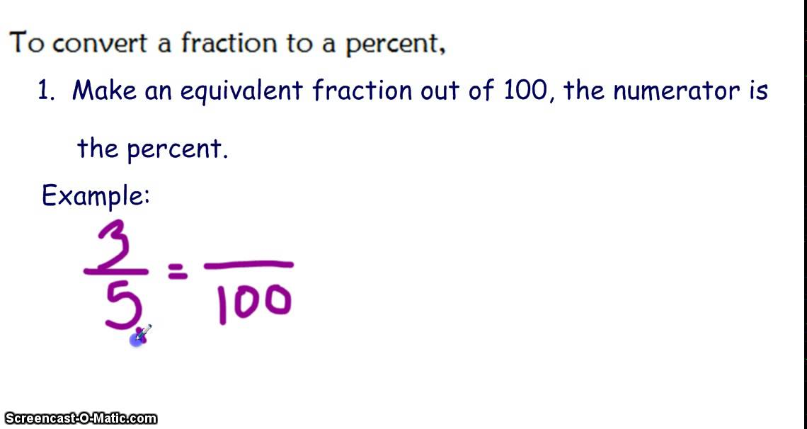 writing fractions as decimals and percents  youtube