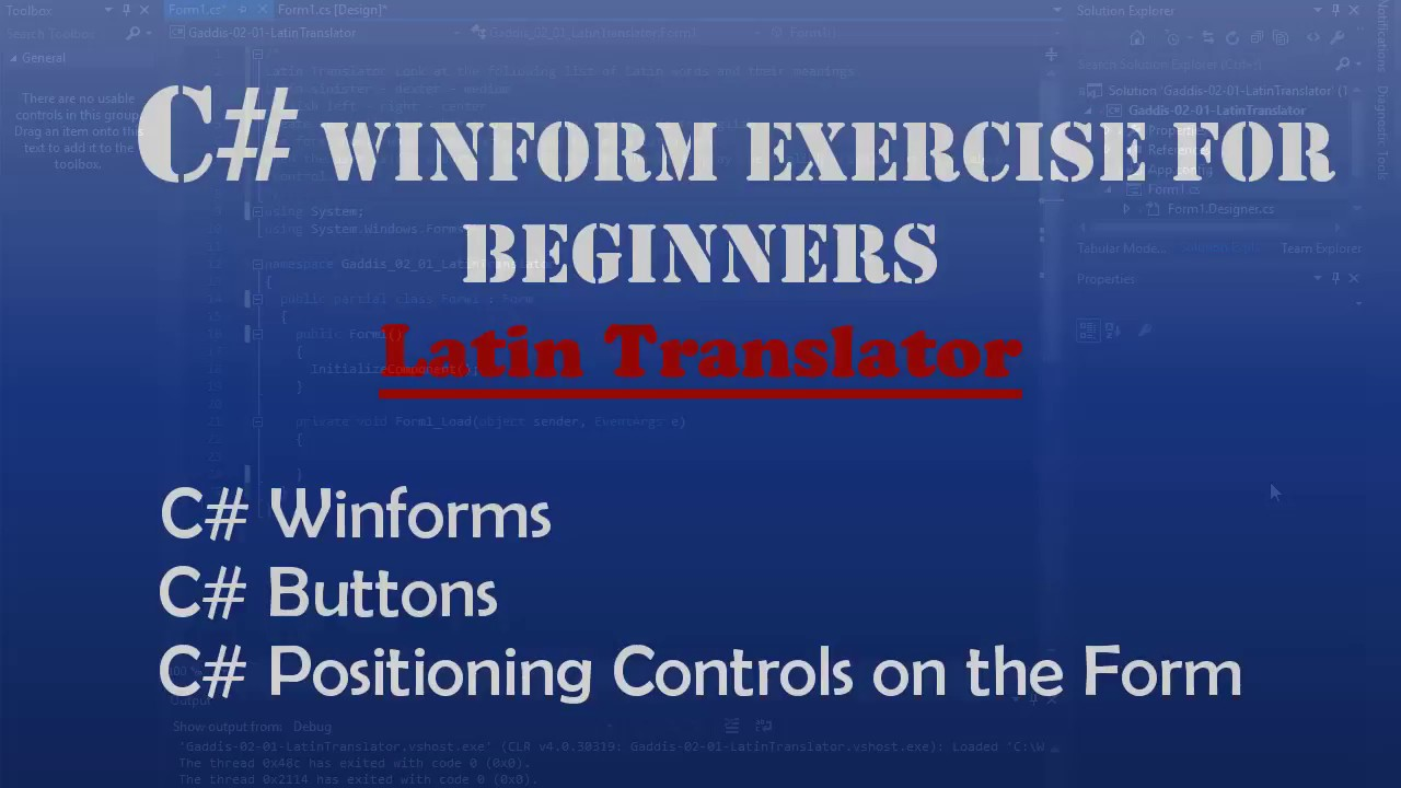 Starting Out With Visual C# : Latin Translator (Intro To
