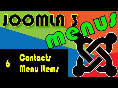 Joomla 3 Tutorials: The Contacts Menu Items