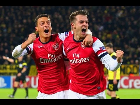 Aaron Ramsey vs Dortmund (Away) 06/11/2013 HD