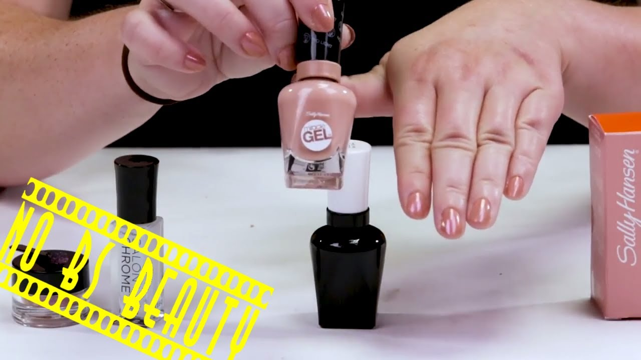NEW!!! Sally Hansen Salon Chrome Nail Polish Kit Review and Swatches ...