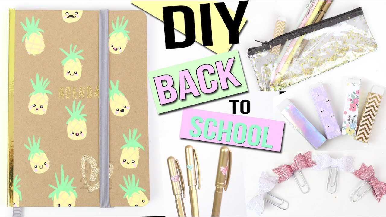 Diy Calendar Nim C : Diy back to school kawaii ┋ paillettes dorÉes francais