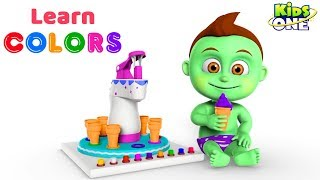 Learn COLORS with Ice Cream Machine For Kids   KidsOne